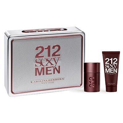 2016 Carolina Herrera 212 Sexy Uomo Eau de Toilette 50ml Set Regalo