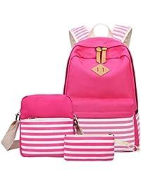 af994bdf4a9f3 Junebao Studenten Unisex Rucksack Elegant Teenager Moderner Schule Leicht  Daypacks Lässig Coole Schultasche Wasserfest…