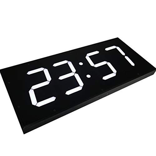CCDYLQ Fernbedienung Digital LED Doppel-Wall-Uhr, Großkalender, Minuten-Alarmuhr, Countdown-Timer mit Fernbedienungstemperatur Big Thermometer, Mute Uhr für Office Home Airport Gymnasium