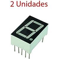 2X Display 7 segmentos Led Rojo 13mm 0,56 Anodo comun 1 Digito 56111BH