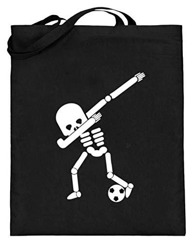 Dabbing Skelett Fußball Spielen Spieler WM Halloween Dab - Schlichtes Und Witziges Design - Jutebeutel (mit langen Henkeln) (Halloween Fußball-spieler Für)