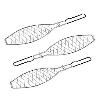 3 X Fischbrter Fischkorb Grillkorb Fr Fisch Verchromt Grillrost Grillguthalter Gemsegriller Fischhalter Fr Grill Bbq