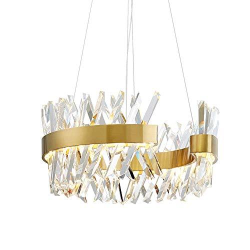 YZYZYZ Nordic Postmoderne 70cm Goldring Kristall-Kronleuchter Schlafzimmer Wohnzimmer Licht LED-Kronleuchter Luxuxkristallleuchter Typ C 80cm