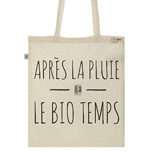 Tote Bag Imprimé Ecru - Toile en coton bio - Après la pluie le BIO temps