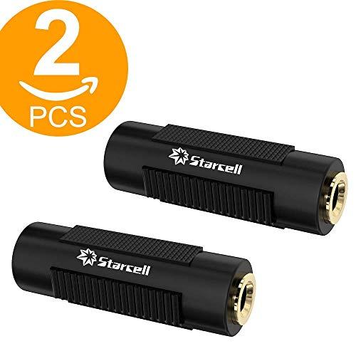 Legge 2pezzi Flashed audio 3.5mm stereo TRS jack accoppiatore femmina adattatore nero