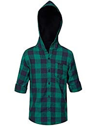 Life Boys Hooded Check Shirt