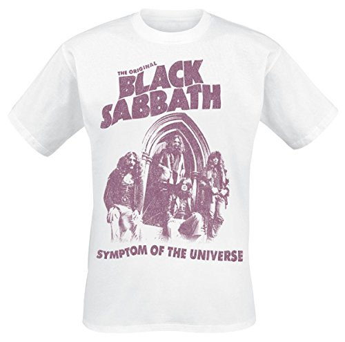 Black Sabbath Symptom Of The Universe Camiseta Blanco M