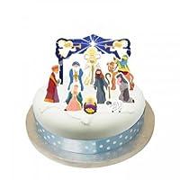 Anniversary House Nativity Cake Topper Kit