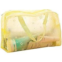 wdoit 1pcs de la mujer viaje cosméticos bolsa impermeable PVC claro lavado baño bolsa de almacenamiento