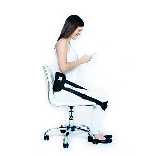 Supportiback ® - Respaldar Ergonómico para Soporte Lumbar Inferior para el Dolor de Espalda - Faja Ayuda a Corregir la Postura y Aliviar Ciática - Arnés para la Postura