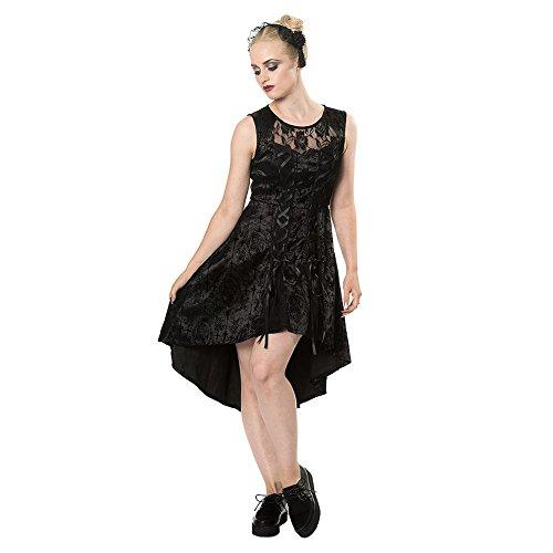 Prohibido caramelo del cráneo gótico del vestido Alternativa - Black / M