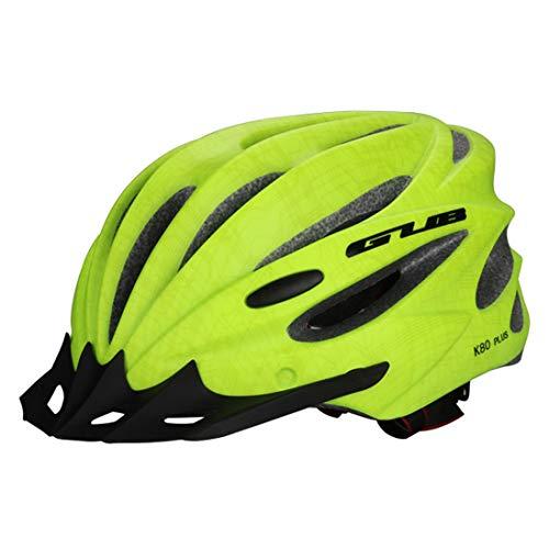 OLEEKA Zyklus Fahrradhelm Einstellbare Sicherheit Fahrradhelm, Männer Frauen Scooter Helm mit Visier/Brille, Schwarz/Grün/Rot (Bike-helme Schmutz Mädchen)
