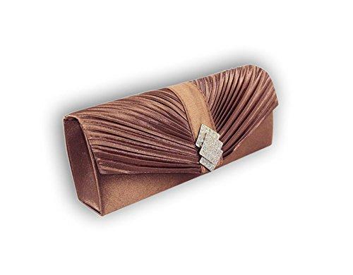 XPGG-Borsa da donna, per abiti da sera, da donna, regalo ideale per frizione Nero (marrone)