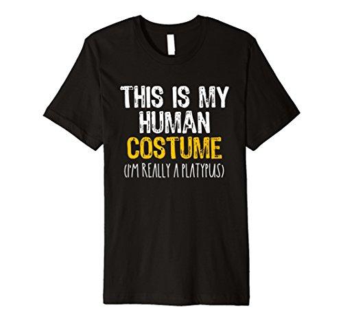 This Is My Echthaar Kostüm Schnabeltier Halloween Funny T-Shirt