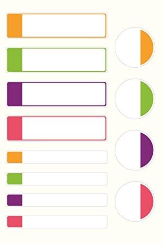 Avery Family - Paquete de 24 etiquetas adhesivas, color blanco con bordes fluorescentes