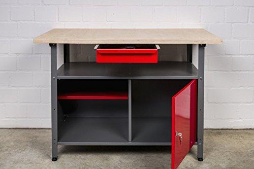 Große Werkstatteinrichtung bestehend aus 2 Werkbänken, 2 Metallschränken und 2 Euro-Lochwänden – individuell kombinierbar - 4
