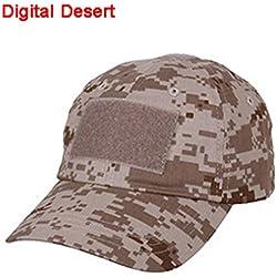 Exterior Ajustable Béisbol Velcro Cap gorro de trabajo camuflaje (5colores) para deportes de Military Army Tactical Caza Camping Tiro (Operador, Digital Desert