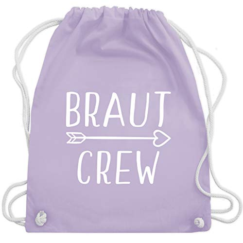 JGA Junggesellinnenabschied - Braut Crew Pfeile - Unisize - Pastell Lila - WM110 - Turnbeutel & Gym Bag (Lila Pfeile)