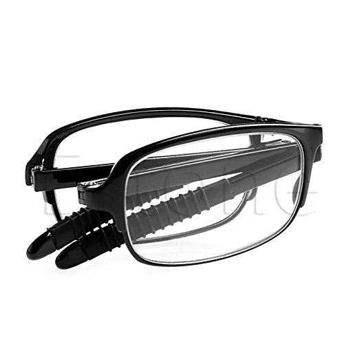 world2home Color Black,Size:3.5:Folding Reading Glasses Eyeglass With Case +1.0 +1.5 +2.0 +2.5 +3.0 +3.5 +4.0 A47065