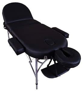 Massage Imperial® Consort - Table de massage Portable pro luxe - Aluminum - Mousse 7cm - Couleur : Noir