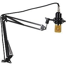YooYoo NB–35estensibile registrazione microfono Sospensione Boom Scissor braccio supporto con Clip per microfono da tavolo con morsetto, black
