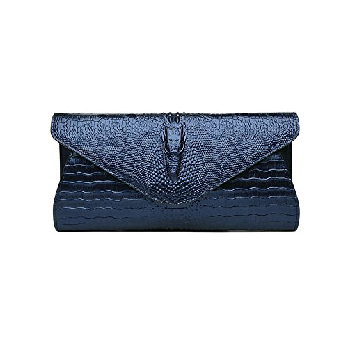 Authentische Verkauf Zum Kostüme (Sheli Womens Designer Unique Functonalities 4D Crocodile Head Leather Clutch Dress Party Daily)