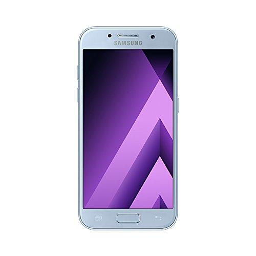 Samsung Galaxy A5 2017 Smartphone portable débloqué 4G (Ecran: 5,2 pouces - 32 Go - Nano-SIM - Android 6.0) Bleu (Carte SIM européenne uniquement)