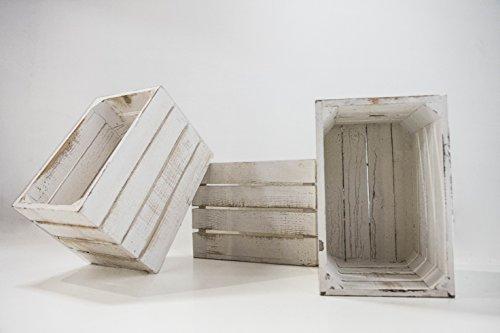 DECORANDO CON SAM Set 3 Unidades Cajas Madera Blancas