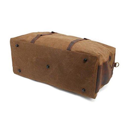 Reise-Duffle-Schulter-Handtasche Übergroße Weinlese-Segeltuch-Duffle-Tasche Reise-Tote-Sport-Turnhalle Leinentasche Wochenende-Tasche für Männer coffee