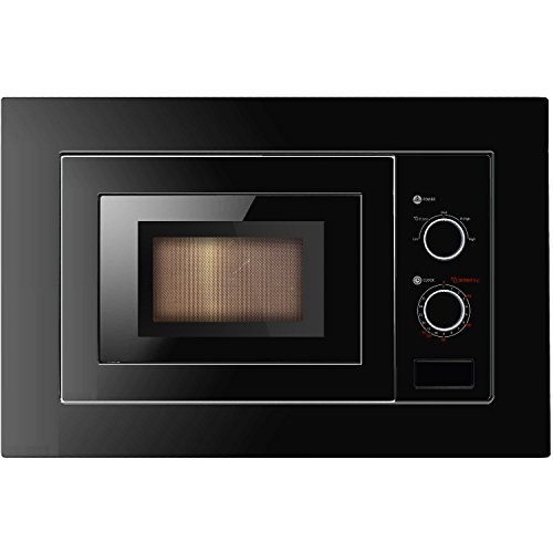 41NyvdEhq2L. SS500  - Cookology IM17LBK Built-in Microwave in Black | Integrated Frame Trim Kit