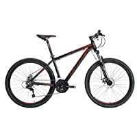 Upten River aluminum mountain bike bicycles MTB bicycle cycle 27.5 inch XC bikes (Black/Red, M)