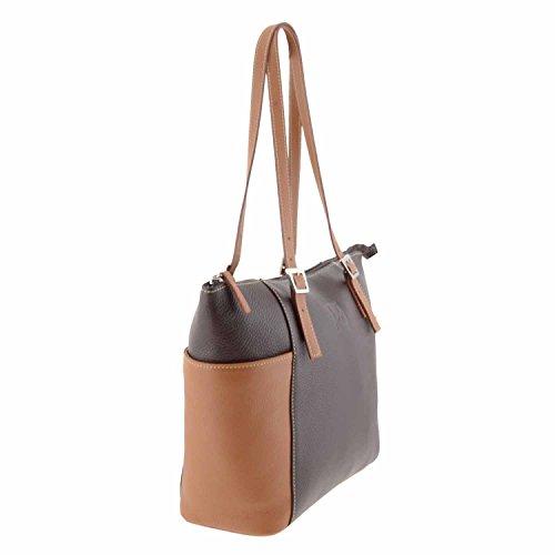 Stile borsa di pelle cestino MARRON/CUERO