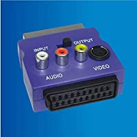 Cable adaptador SCART. Euroconector macho/hembra + audio RCA S-Video toma In-Out S-VHS TV