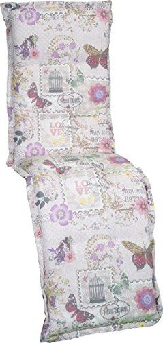 Gartenstuhlauflage Sitzkissen Polster Stuhlkissen für Relaxstuhl Mehrfarbig beige violett rosa...
