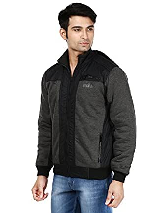 Ico Blue Stor Men's Polyester Jacket - Black and Grey_40