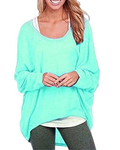 Cindeyar Asymmetrisch Pullover Pulli Oversize Strickjacke Longshirt Tunika Elegant Langarm Oberteile Tops T-shirt (X-Large, (Langarm Schwangerschafts-tunika)