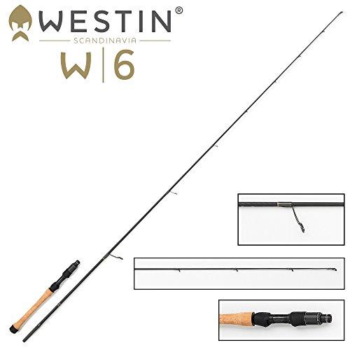 Westin W6 Vertical Jigging M Vertikalrute 185cm 14-28g - Spinnrute zum Vertikalangeln, Zanderrute, Barschrute, Gummifischrute