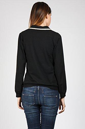 Moves To Slow Damen Langarmshirt Long Sleeve T-Shirt Schwarz