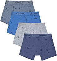 Calzoncillos Boxer de Niño con Dibujos de Cohetes Espaciales. Pack de 4 Boxers