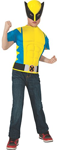 Rubies Marvel Universe Wolverine Muscle-Chest Costume Shirt with Mask, Child - Muskulös Kostüm