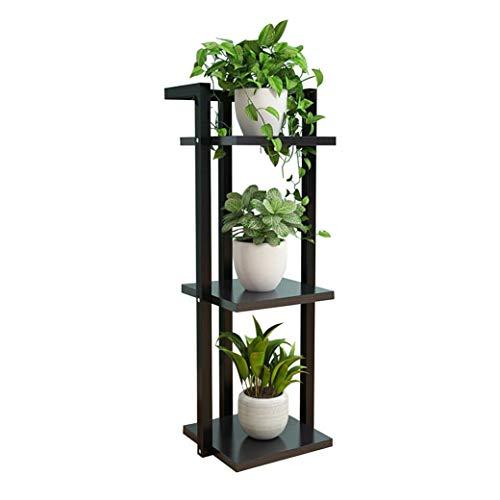 Blumenregale DD Blumenständer, Mehrschicht-Einbauregal, Eisen-Balkon-Blumentopf, Wohnzimmer-Bodenständer (Farbe : 3-Tiers)
