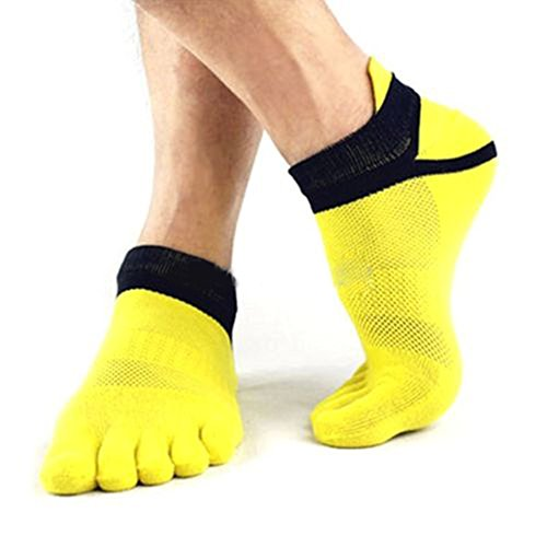 MORESAVE Uomini del cotone di sport Five Finger Toe Socks calzini traspiranti