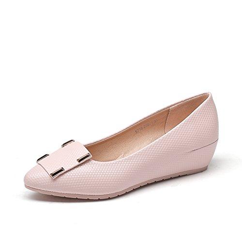 Chaussures de l'automne/Femmes talons/Asakuchi haute women shoes/ rond tête sabot C