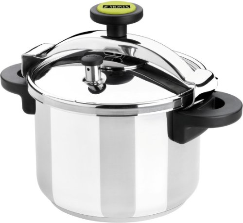 Monix Classica - Olla a presión tradicional de 6 litros, acero inoxidable, color gris
