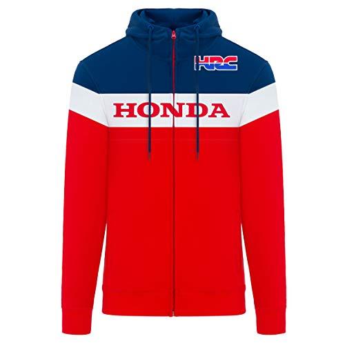 2019 Honda Racing HRC MotoGP - Felpa con Cappuccio da Uomo, Colore: Rosso, Taglie S-XXL, Red, Mens (S) 98cm/39 inch Chest