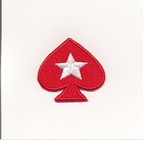 MAREL Patch Poker Stars parche termoadhesivo bordado cm 6x 5