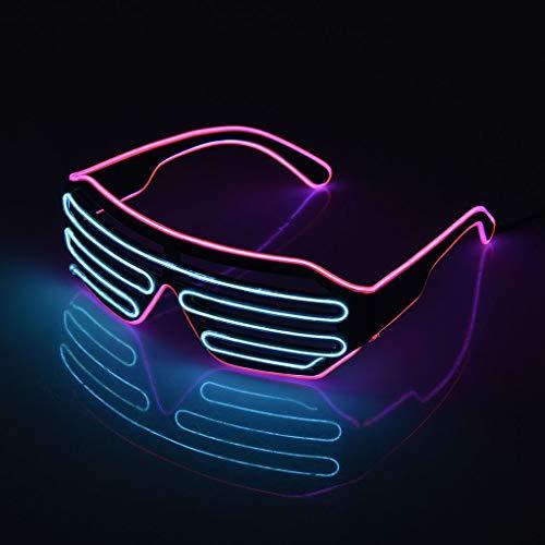 Kineca EL LED Gläser leuchten Schatten Halloween Flashing Luminous Brillen Nachtweihnachts Hochzeit Geburtstag Partei-Dekoration