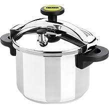 Monix Classica - Olla a presión tradicional de 4 litros, acero inoxidable, color gris