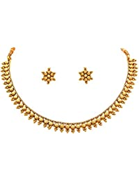 BFC- Buy For Change One Gram Gram Gold Plated Necklace Set With Stud