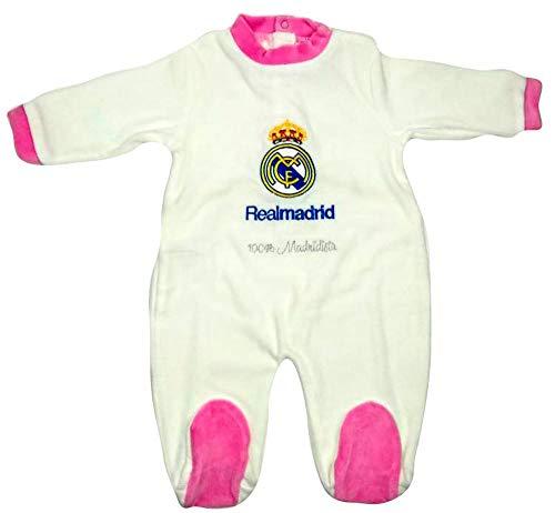 Pelele Niña Real Madrid Rosa 1-12 Meses (1 Mes)